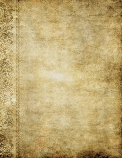 grungy old yellow brown vintage parchment paper texture