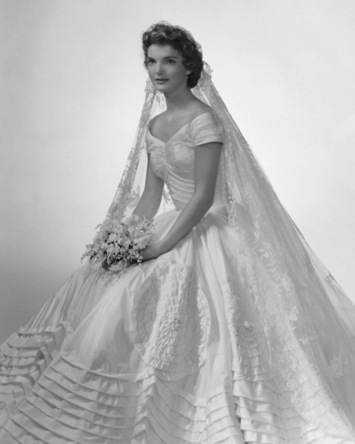 Wedding Portrait Of Jacqueline Bouvier